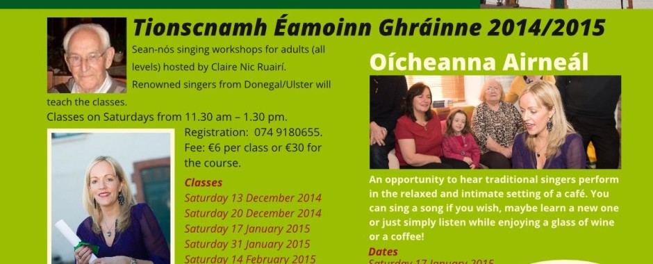 Sean-nós singing classes for Adults