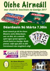 Oíche Airneáil le Cluichí Boird